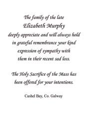 Funeral acknowledgements wording funeral memorial cards